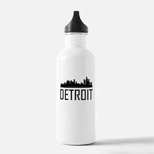 Skyline of Detroit MI Water Bottle
