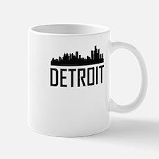 Skyline of Detroit MI Mugs