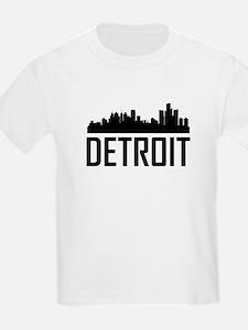 Skyline of Detroit MI T-Shirt