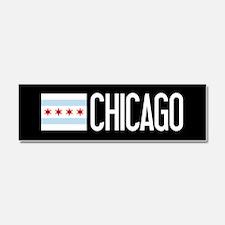 Chicago: Chicagoan Flag & Chicag Car Magnet 10 x 3