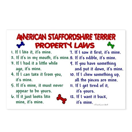 American Staffordshire Terrier Property Laws 2 Pos