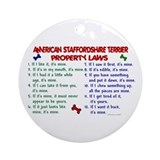 American staffordshire terrier Round Ornaments