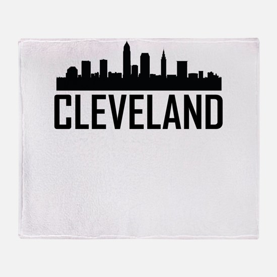 Skyline of Cleveland OH Throw Blanket