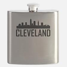 Skyline of Cleveland OH Flask