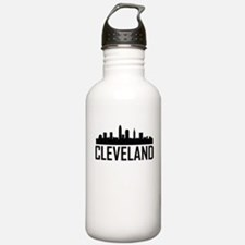 Skyline of Cleveland OH Water Bottle