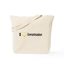 I Love Gewurztraminer Tote Bag