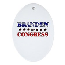 BRANDEN for congress Oval Ornament