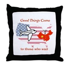 Unique Chinese adoption Throw Pillow