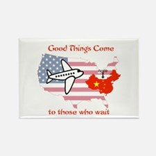 Cute China adoption Rectangle Magnet