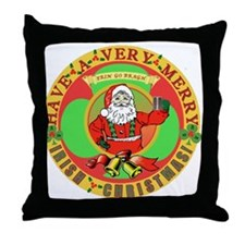 Merry Irish Christmas! Throw Pillow