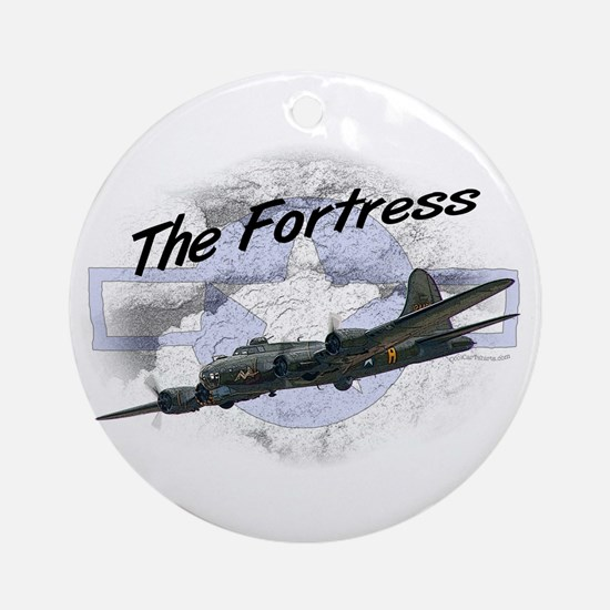 Fortress Aircraft Round Ornament