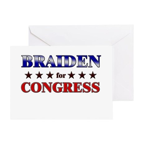 BRAIDEN for congress Greeting Card