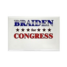 BRAIDEN for congress Rectangle Magnet