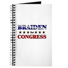 BRAIDEN for congress Journal