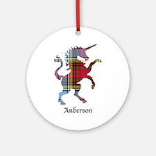Unicorn - Anderson Round Ornament