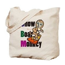 Snowboarder monkey Tote Bag