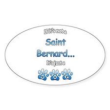 Saint Bernard Not Oval Decal