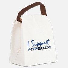Support the Thin Blue Line Canvas Lunch Bag