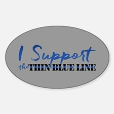 Support the Thin Blue Line Decal