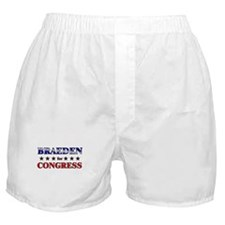 BRAEDEN for congress Boxer Shorts