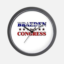BRAEDEN for congress Wall Clock