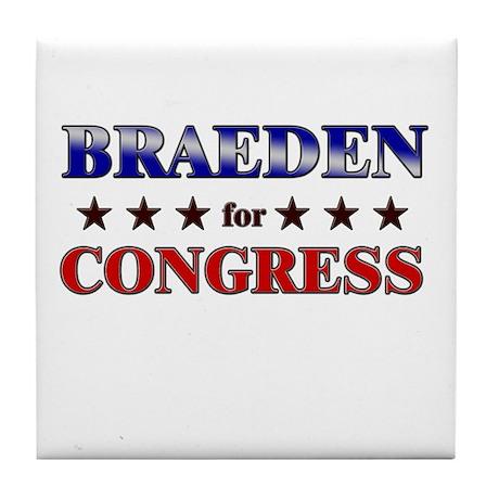 BRAEDEN for congress Tile Coaster