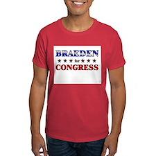 BRAEDEN for congress T-Shirt