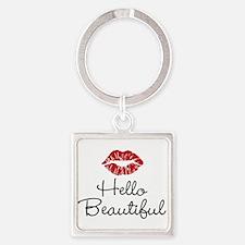 Hello Beautiful Red Lips Keychains