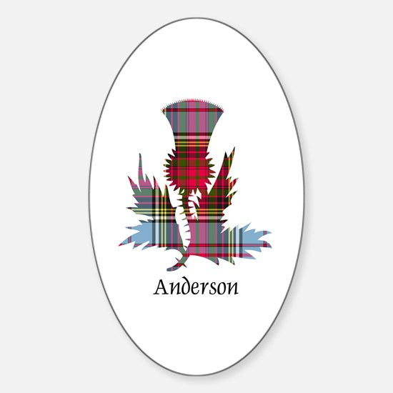 Thistle - Anderson Sticker (Oval)