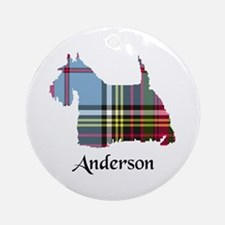 Terrier - Anderson Round Ornament