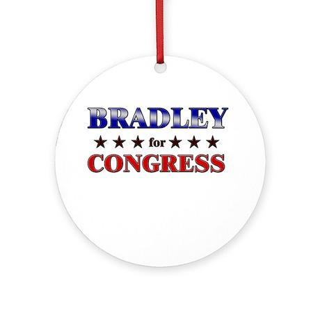 BRADLEY for congress Ornament (Round)