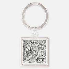 Cool Clara Square Keychain