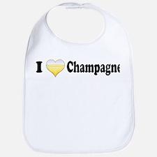 I Love Champagne Bib