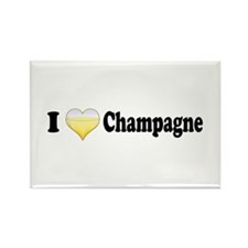I Love Champagne Rectangle Magnet
