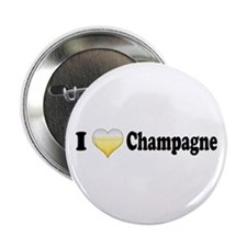"""I Love Champagne 2.25"""" Button"""