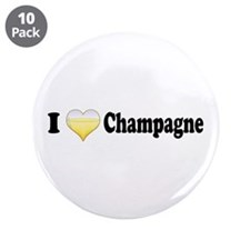 "I Love Champagne 3.5"" Button (10 pack)"