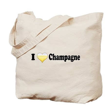 I Love Champagne Tote Bag