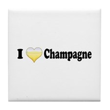 I Love Champagne Tile Coaster