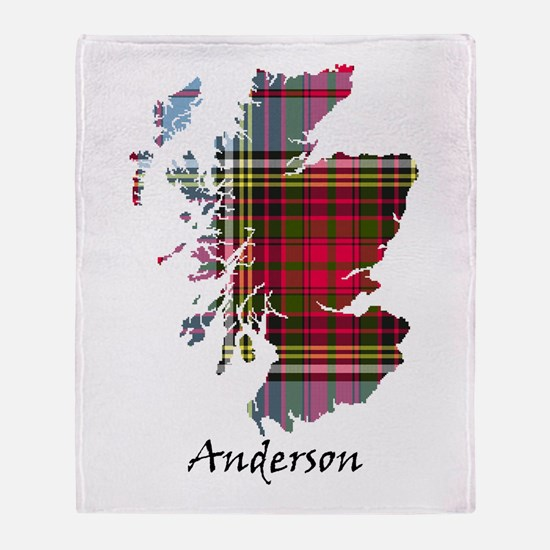 Map - Anderson Throw Blanket