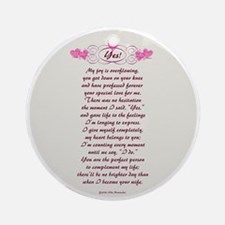 NEW DESIGN! Yes! Ornament (Round)