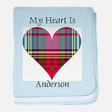 Heart - Anderson baby blanket