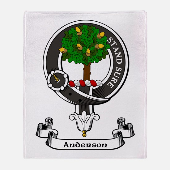 Badge - Anderson Throw Blanket