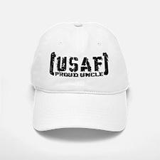 Proud USAF Uncle - Tatterd Style Baseball Baseball Cap