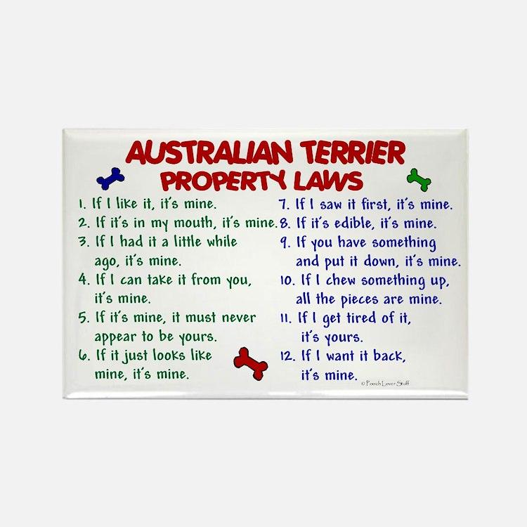 Australian Terrier Property Laws 2 Rectangle Magne