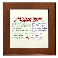 Australian Terrier Property Laws 2 Framed Tile