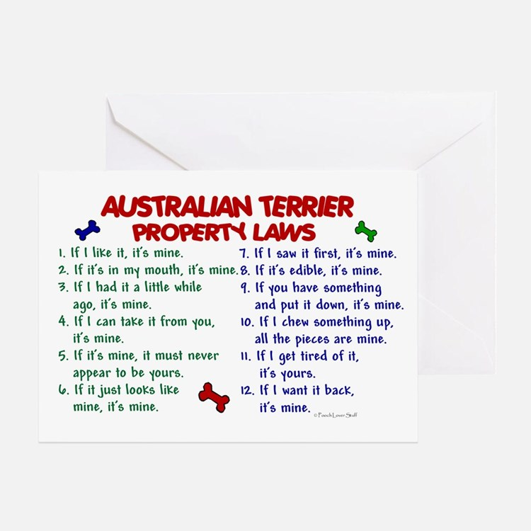 Australian Terrier Property Laws 2 Greeting Card