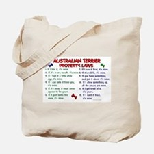 Australian Terrier Property Laws 2 Tote Bag