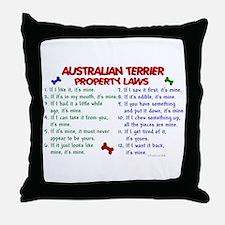Australian Terrier Property Laws 2 Throw Pillow