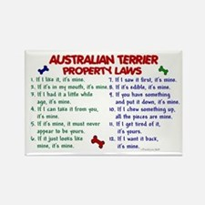 Australian Terrier Property Laws 2 Rectangle Magne