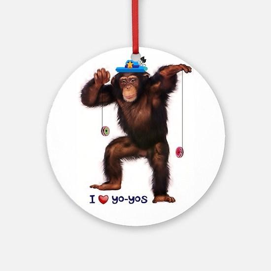 I Heart Yo-yos Round Ornament